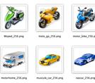 Большой набор транспортных иконок