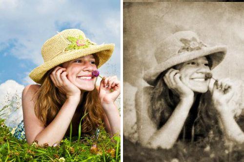 Как сделать винтажное фото в Photoshop