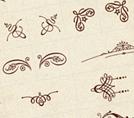 Бесплатный набор винтажных орнаментов