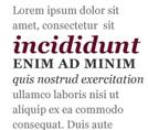 Иерархия в типографике
