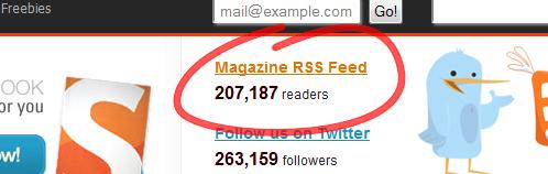 Как красиво отобразить среднее количество RSS-читателей